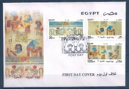 Egypte - 2003 -  Enveloppe 1e Jour - Série Journée De La Poste - Motifs Pharaons 20e Dynastie - Y&T #1758 To 1760 - Egyptologie