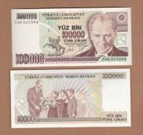 AC - TURKEY- 7th EMISSION 100 000 TL C UNCIRCULATED - Turchia