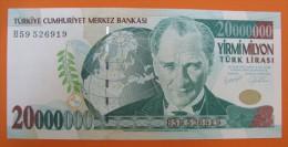 AC - TURKEY- 7TH EMISSION 20 000 000 TL B UNCIRCULATED - Turkije