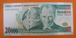 AC - TURKEY- 7TH EMISSION 20 000 000 TL F UNCIRCULATED - Turkije