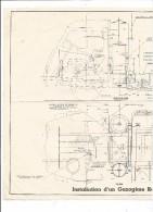 VP.0256/ Plan D'installation D'un Gazogène Renault N° 12 - Cars