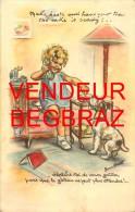 ILLUSTRATEUR GERMAINE BOURRET    ENFANT CHIEN   HUMOUR - Bouret, Germaine
