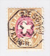 Heimat ZH RIESBACH Vollstempel 1881 Auf 3Fr Telegraphen Marke #18 - Télégraphe