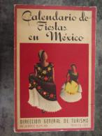 CALENDARIO DE FIESTAS EN MEXICO  1953 - Culture