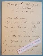 L.A.S 1890 Emile DESCHANEL - Homme Politique & Auteur - BEUZEVAL HOULGATE Calvados Maury - Lettre Autographe LAS - Autographes