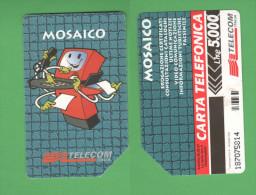 Schede Telefoniche > TELECOM Mosaico 5000 Lire Giugno 1997 - Italie