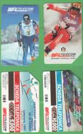 Schede Telefoniche > TELECOM Scii Fondo E Ghedina  5000 + 10000 Lire  12-1998 E 6-2000 - Italia