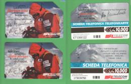 Schede Telefoniche > TELECOM Alpinismo H.Kammerlander 10000 Lire 12-2000 E 6-2001 - Italie