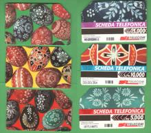 Schede Telefoniche > TELECOM Uova Pasqua 5000 + 10000 + 15000 Lire Giugno 1998 - Italia