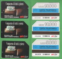 Schede Telefoniche > SIP Compagna Di Tutti I Giorni 5000 + 10000 + 15000 Lire Giugno 1995 - Italia
