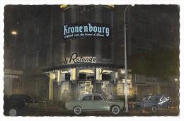 "Cpsm: ALGERIE - ALGER - Brasserie ""La Rotonde""  La Nuit (Voitures, Peugeot 403)  N° 1  (rare) - Alger"