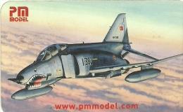 @@@ PM Model F-4E PHANTOM Calendar 2005, 9x5cm - Calendarios
