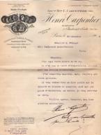 VP3531  - Lettre - Mr Henri CARPENTIER Constructeur à Paris Bd Soult - Médailles à Exposition Universelle Paris 1900 - Documents