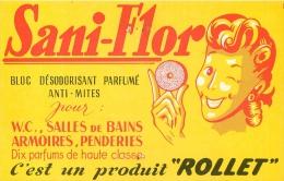 CARTE PUBLICITAIRE SANI-FLOR VOIR LES DEUX SCANS - Advertising