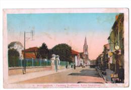 9771    CPA MONTAUBAN  : Faubourg Toulousain . Eglise Saint Orens  1941  ( Tachée ) - Montauban