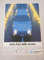 ADVERTISING PUBBLICITA´ VOLKSWAGEN JETTA IL JET DELLA STRADA  -- 1988 -  OTTIMO - Werbung