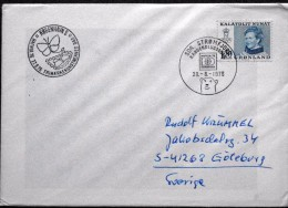 Greenland  1976  Hafnia 76 Commemorative Postmark Used To Cancel Mail Collected At The Exhibition Sdr.strøm ( Lot 6090 ) - Greenland