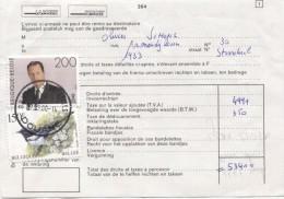 TP 2599-2697 Oiseaux Buzin S/Document De La Poste 264 C.Bruxelles Douane En 2000 Taxe De Dédouanement  350 Fr AP898 - Belgien
