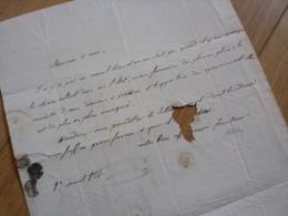Paul DIDIER (+1834) - GRENOBLE / Prefet EMPIRE (Dignes, Basses Alpes) Puis AMIENS - Handtekening