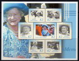 Papua New Guinea 2002 Queen Mother Commemoration Sheetlet Of 7, MNH (C) - Papouasie-Nouvelle-Guinée