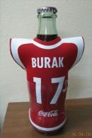 AC - COCA COLA EMPTY BOTTLE & CROWN CAP TURKISH FOOTBALL NATIONAL TEAM NAMES SOCCER - 17 - BURAK - Botellas