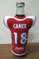 AC - COCA COLA EMPTY BOTTLE & CAP TURKISH FOOTBALL NATIONAL TEAM NAMES SOCCER - 18 - CANER - Bottles