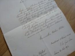 CARDINAL Jean Baptiste PITRA (1812-1889) évêque FRASCATI / Italia. AUTOGRAPHE - Autographs