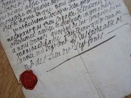 ABBAYE De Sept Fons (1700) Eustache De BEAUFORT (1635-1709) - DIOU. Trappistes. Clairveaux. - AUTOGRAPHE - Autographes
