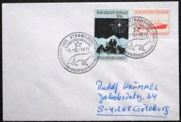 Greenland  1978  Letter To Sweden. The First Day A Stamp 1,-12-1976 Sdr.Strømfjord    ( Lot 6091 ) - Greenland