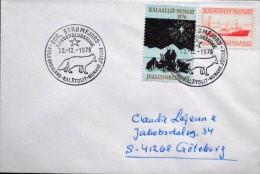 Greenland  1978  Letter To Sweden.  Chrismas Postmark   25-12-1976 Sdr.Strømfjord    ( Lot 6091 ) - Brieven En Documenten