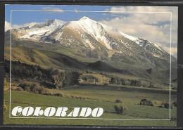 Colorado, Mt. Sopris And Farming Area, Unused - Rocky Mountains