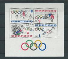 Tschechoslowakei Mi Block 60 , Yt. BF 64 Olympische Spiele - Blocks & Kleinbögen