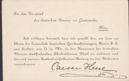 Guatemala Postal Stationery Ganzsache Entero PRIVATE Print DEUTSCHEN VEREINS 1888? Servicio Interior (2 Scans) - Guatemala