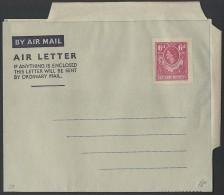 Northern Rhodesia 1953 6d Air Letter H&G3 Fine Unused - Northern Rhodesia (...-1963)