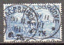 """DR 1900: 2 M Darst. Kaiserreich, Inschrift """"Reichspost"""" Gestemp.; Michel-Nrn. 64      O - Used Stamps"""