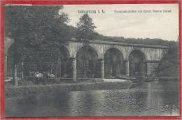 57 - LÜTZELBURG - LUTZELBOURG - ZORNTHAL - Eisenbahnbrücke - Canal Marne Au Rhin - Halage - Chevaux - Péniche - Frankreich