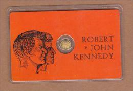 AC - ROBERT E JOHN KENNEDY GOLD PLATED - Monarquía/ Nobleza