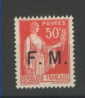 ++  A SAISIR !!!    PARFAIT   N°7  NEUF**  1933     VOIR  SCAN CONTRACTUEL RECTO+VERSO - Franchise Militaire (timbres)
