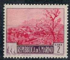 San Marino 1949 Paesaggi Vedute 2 Lire ** MNH - Unused Stamps