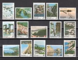 Greece 1979 Greek Landscapes Nature View Tourism Geography Places Definitives Stamps MNH Michel 1452-1466 SC 1328-1342 - Unclassified