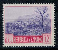 San Marino 1949 Paesaggi Vedute 12 Lire ** MNH - Unused Stamps