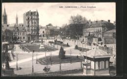 CPA Limoges, Place Jourdan, Commerces - Limoges