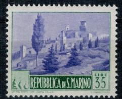 San Marino 1949 Paesaggi Vedute 35 Lire ** MNH - Unused Stamps
