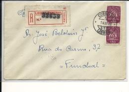 Lettre  POrtugal 1946, Pour Funchal  (261) - 1910-... République