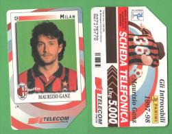 Schede Telefoniche > TELECOM Calciatori Milan Ganz 5000 Lire Giugno 2000 - Italy