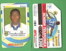 Schede Telefoniche > TELECOM Calciatori Parma Asprilla 5000 Lire 12 - 2000 - Italy