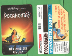 Schede Telefoniche > TELECOM Disney Pocahontas 10000 Lire 06 - 1997 - Italie