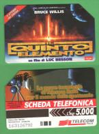 Schede Telefoniche > TELECOM Film 5° Elemento 5000 Lire 12 - 1999 - Italia