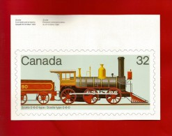 CANADA  1984 , Locomotive - Maximum Card - First Day Maynooth 17 XI 1984 - 2 Scan - Maximumkaarten