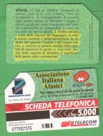 Schede Telefoniche > TELECOM Afasia 5000 Lire 12-2000 - Italia